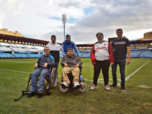 Visita ASPACE entrenamiento Real Zaragoza Juvenil