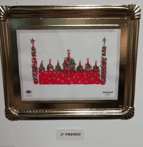 Dibujo con la silueta de nuestra basílica del Pilar decorada con motivos navideños