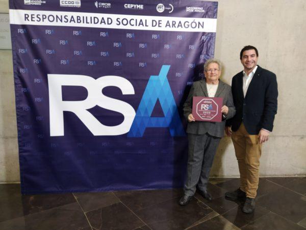 Entrega del Sello de Responsabilidad Social de Aragón