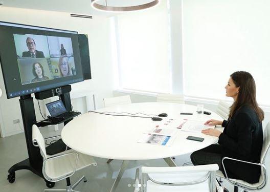 Videoconferencia con la Reina Letizia