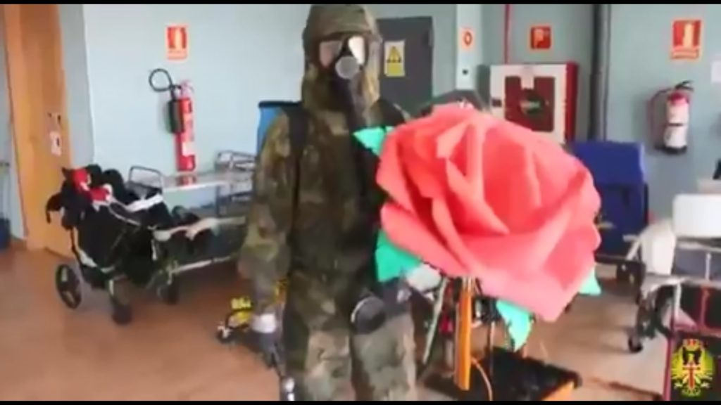 Descontaminación de las instalaciones de ASPACE por la Brigada ARAGÓN I
