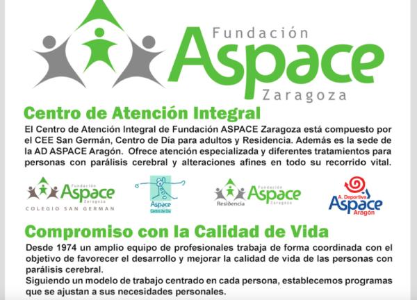 Cartel ASPACE Zaragoza